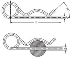 Шплинт игольчатый пружинный аналог DIN 11024 Form D