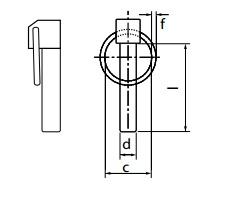 Шплинт (штифт) DIN 11023 быстросъемный с кольцом