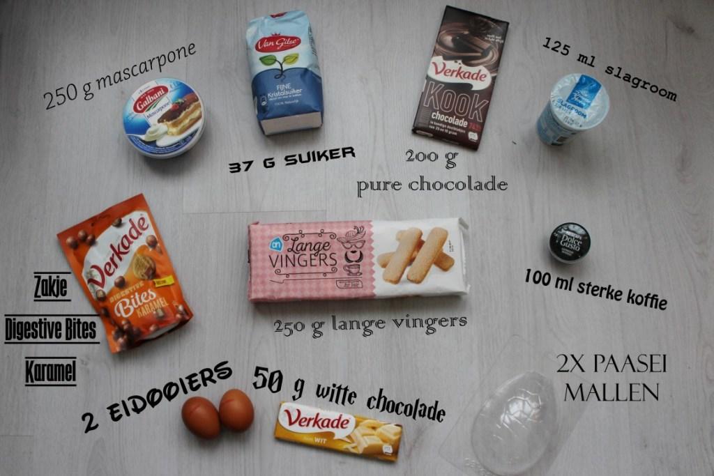 ingrediënten chocolade tiramisu
