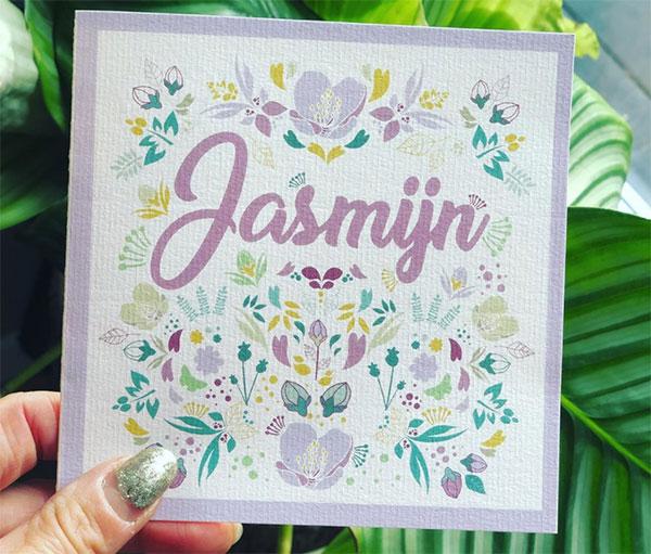Geboortekaartje Jasmijn