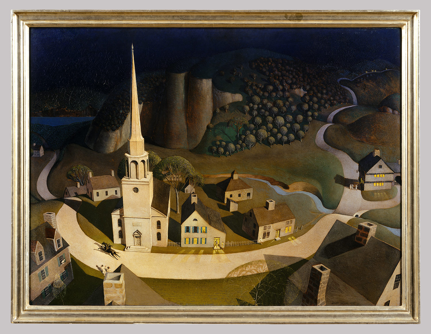 Grant Wood The Midnight Ride Of Paul Revere 50 117