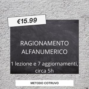 RAGIONAMENTO ALFANUMERICO