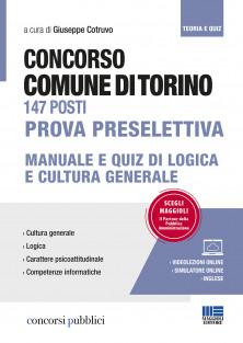 Comune di Torino 147 posti - Prova preselettiva