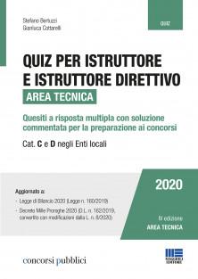 Istruttore e istruttore direttivo Area tecnica - Cat. C e D negli Enti locali