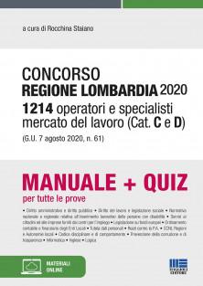 Regione Lombardia 2020 - 1214 Operatori e specialisti mercato del lavoro (Cat. C e D) (G.U. 7 agosto 2020, n. 61)