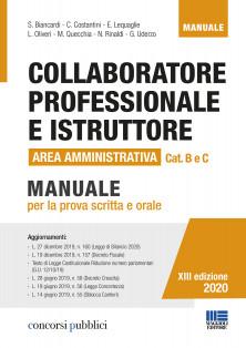 professionale e Istruttore Area Amministrativa Cat. B e C