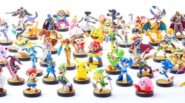 Estos sólo representan algunos Amiibos de la colección de Smash Bros.