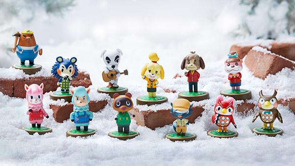 Algunas figuras de la colección de Animal Crossing.