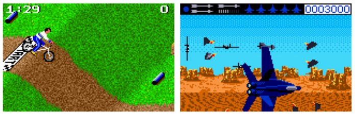 California Games (1989) y Blue Lightning (1989) para la consola Lynx.