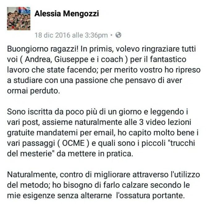 Alessia Mengozzi - Testimonianze