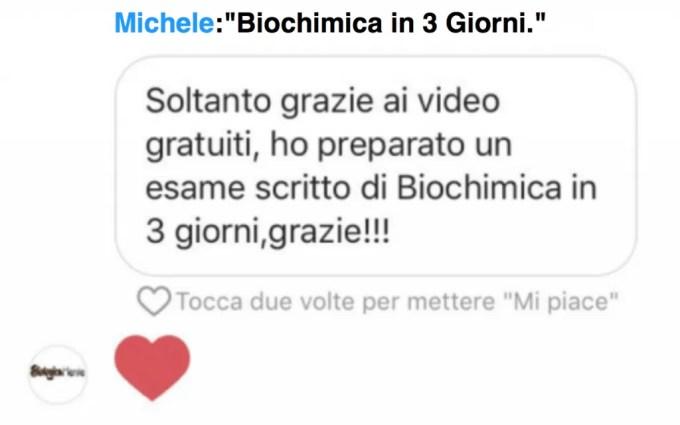 laurea lampo - Testimonianze - come studiare biochimica