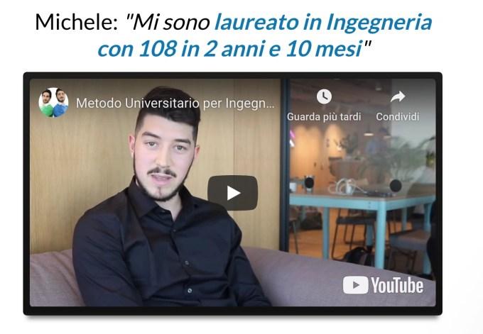 Testimonianze Esami in 7 Giorni Michele Ingegneria