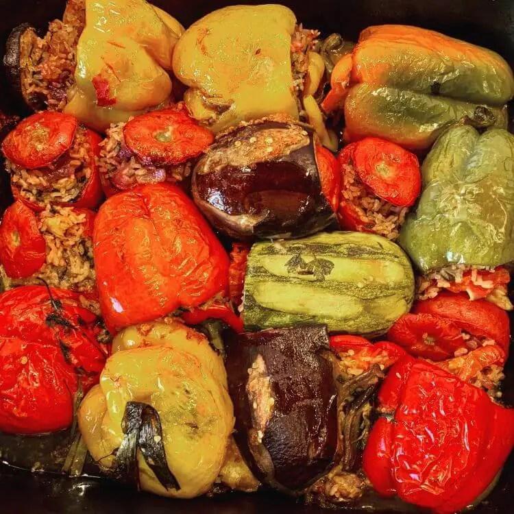 Greek stuffed vegetables (Gemista recipe)