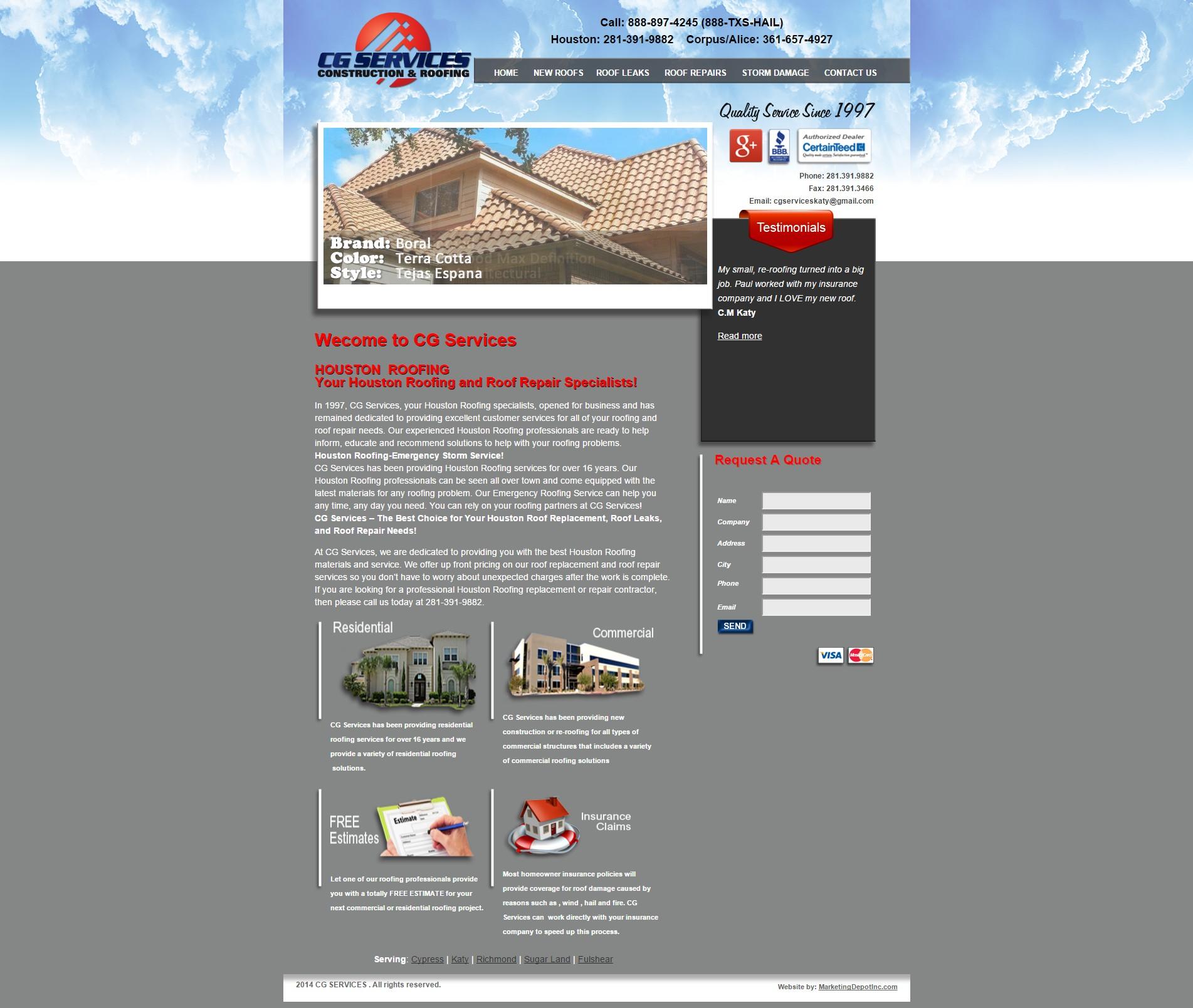 Review CG Roofing ... Sc 1 St Metonymy Marketing Strategies