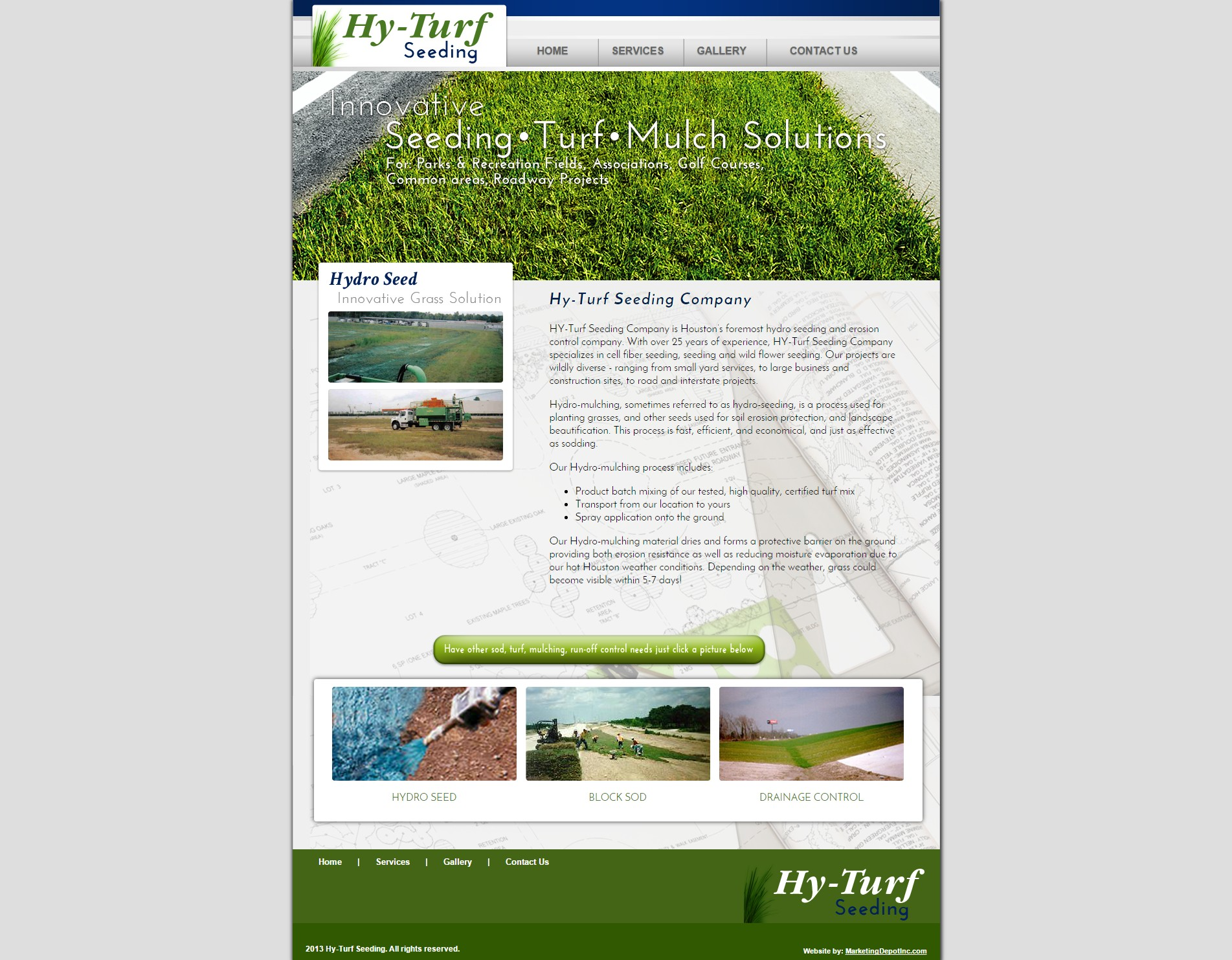 Hy-Turf Seeding