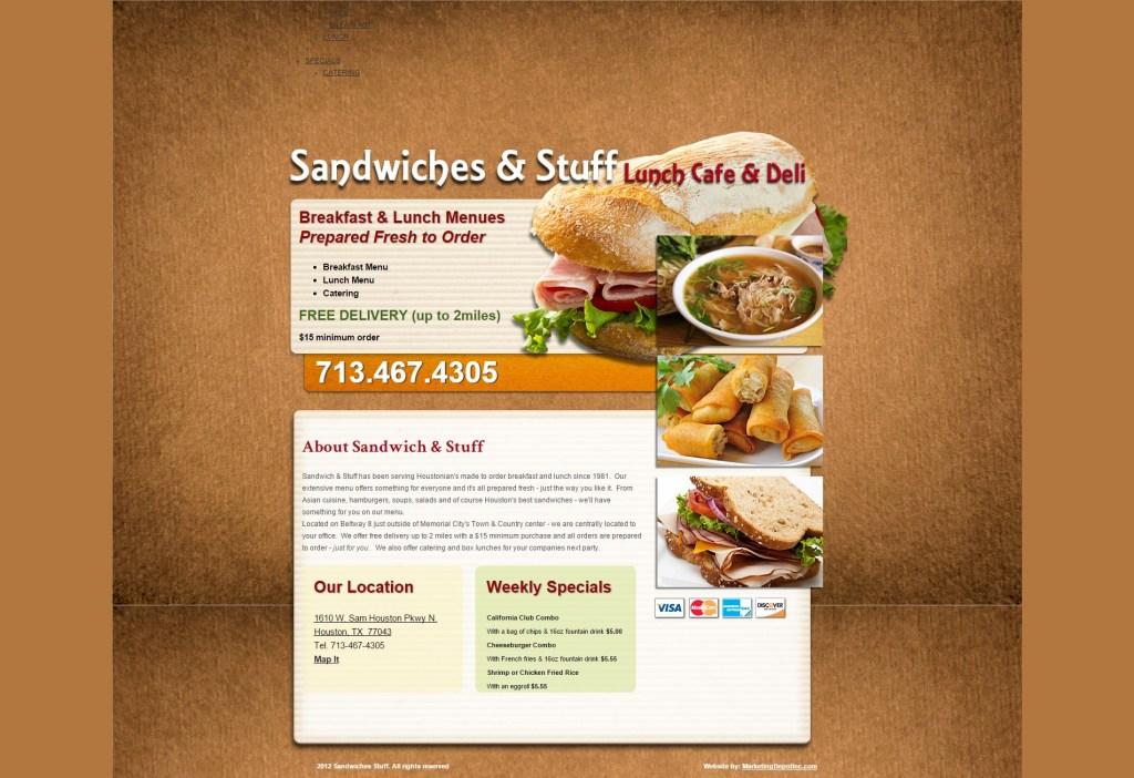 Sandwiches & Stuff