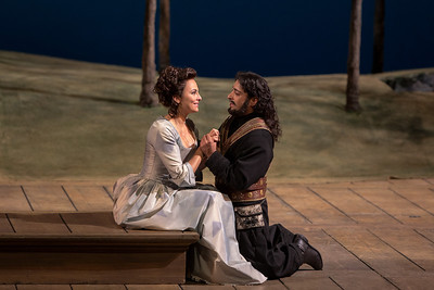 "Isabel Leonard as Dorabella and Rodion Pogossov as Guglielmo in Mozart's ""Così fan tutte.""  Photo: Marty Sohl/Metropolitan Opera  Taken on September 17, 2013 at the Metropolitan Opera in New York City."