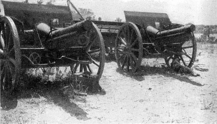 صورة لمدافع- m75- 30/Krupp M03L الخاصة بالجيش العثماني في غزة