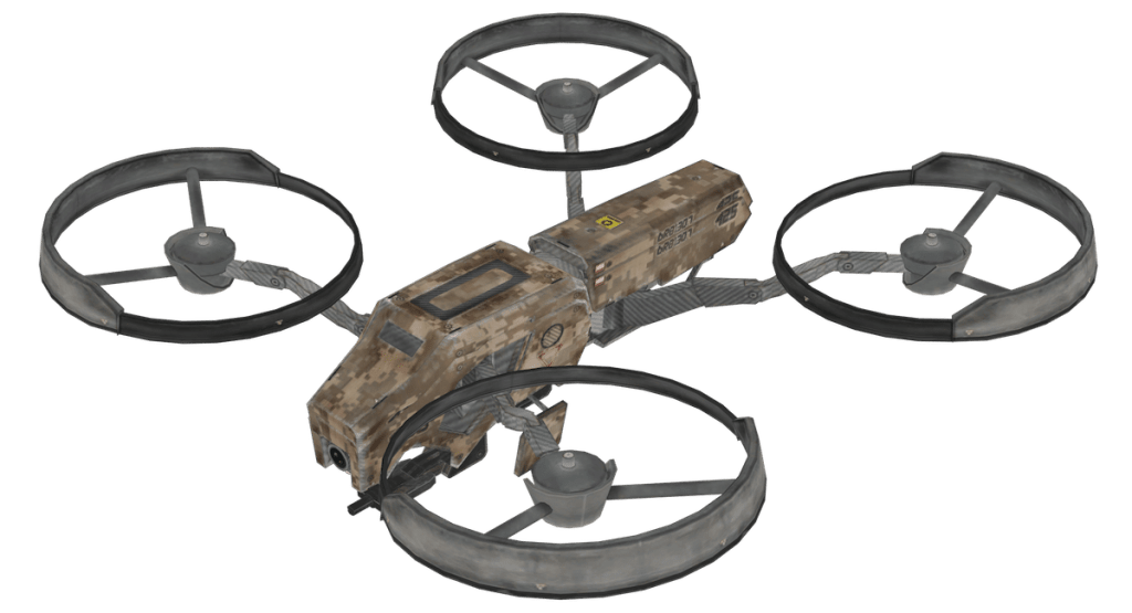 طائرة الـQuadcopter، من لعبة Call of duty.