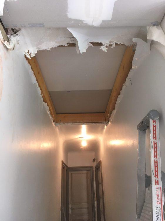 trémie escalier gîtage bois