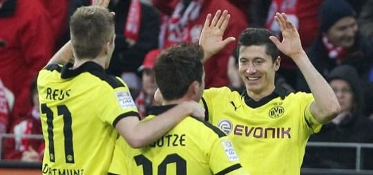 Dortmund's Robert Lewandowski