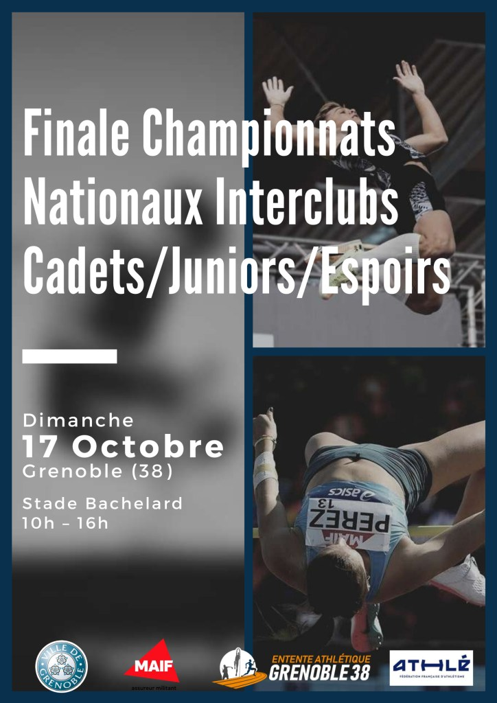 [Communiqué] Last of the Interclub Cadets / Juniors / Espoirs nationwide championships in Grenoble