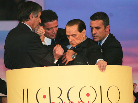 Berlusconi collapsing