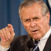 Donald Rumsfeld steps down
