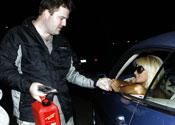 Paris Hilton out of petrol