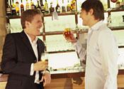 Men at a bar