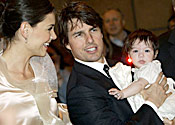 Tom Cruise, Katie Holmes and baby Suri