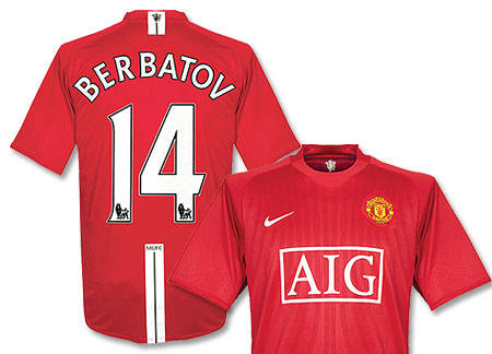 Berbatov United shirt