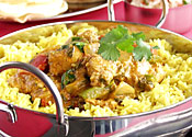 Currying favour: Parents could get tasty tandooris if they stop their kids from skipping school