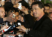 Sylvester Stallone at Rambo premiere