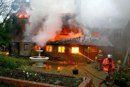 Mansion blaze
