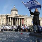 Demonstrators in anti-Hamas protest