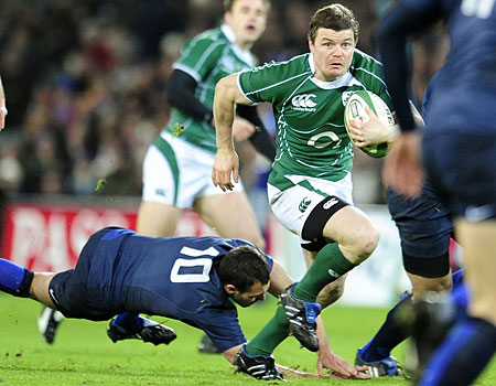 Starting berth: Brian O'Driscoll plays for the Lions again on Wednesday