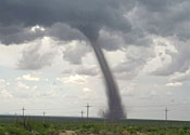 A twister like this swept over the Isle of Lewis