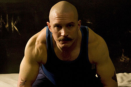 Tom Hardy as 'Britain's most violent prisoner' in the film Bronson