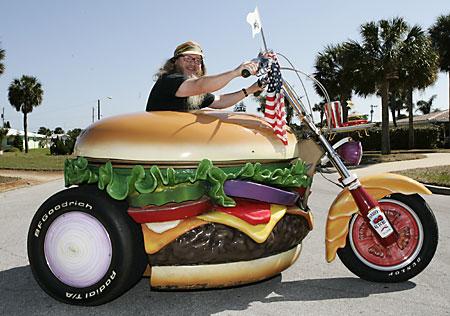 Burger motorbike