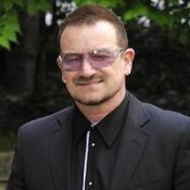 U2's Bono at Clement Freud funeral