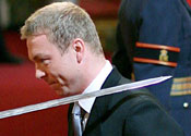 Sir Chris Hoy is knighted at Palace
