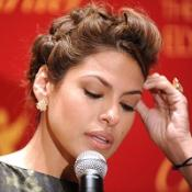 Eva Mendes emotional at launch