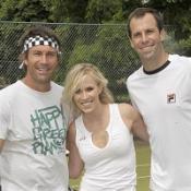 Natasha gets tennis tips from pros
