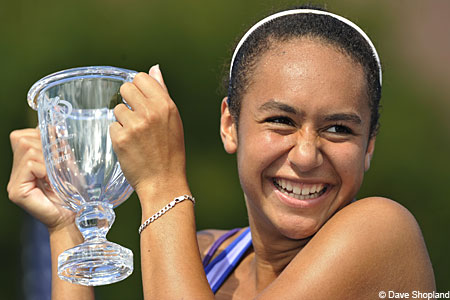 Junior US Open champion, Britain's Heather Watson