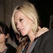 Kate Moss made her way through a TV interview