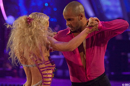 Hollyoaks actor Ricky Whittle and his partner Natalie Lowe came top of the scoreboards