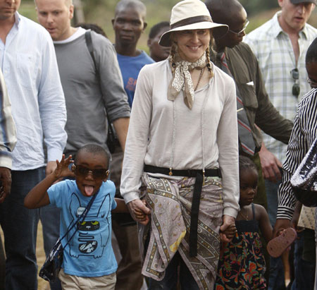 Madonna at the orphanage in Malawi