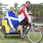 Ben Fogle and James Cracknell are tackling a 450-mile rickshaw ride