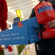 A row erupted in a Kent pub over the sale of poppies